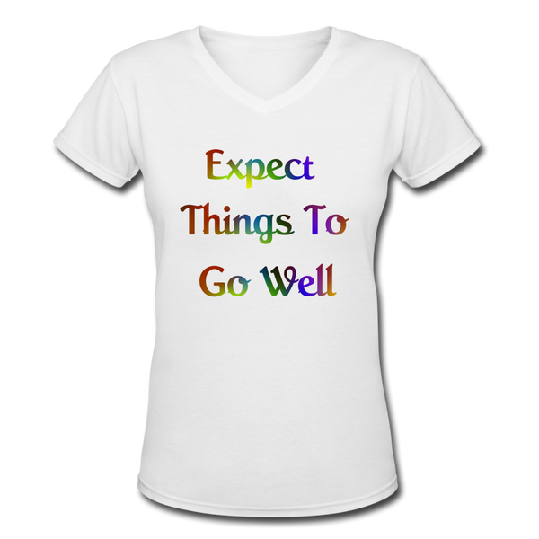 Expect Things - V-Neck Women's - white