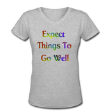Expect Things - V-Neck Women's - gray