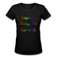 Expect Things - V-Neck Women's - black
