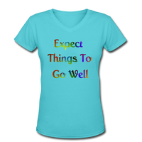 Expect Things - V-Neck Women's - aqua