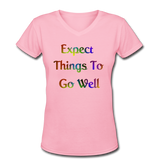 Expect Things - V-Neck Women's - pink