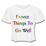 Expect Things - Cropped Women's - white