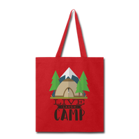 Live Laugh Camp - Tote - red