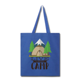 Live Laugh Camp - Tote - royal blue