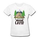 Live Laugh Camp - Women's - white
