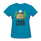 Live Laugh Camp - Women's - turquoise