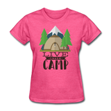 Live Laugh Camp - Women's - heather pink