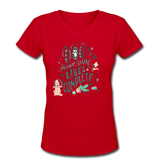 Dogs Lives Complete - V-Neck Women's - red