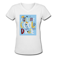 Awesome Cool Dude - V-Neck Women's2 - white