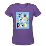 Awesome Cool Dude - V-Neck Women's2 - purple