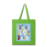 Awesome Cool Dude - Tote2 - lime green