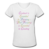 Contrast is Essential - V-Neck Women's - white