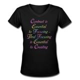 Contrast is Essential - V-Neck Women's - black