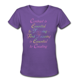 Contrast is Essential - V-Neck Women's - purple