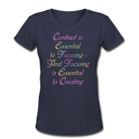 Contrast is Essential - V-Neck Women's - navy