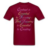 Contrast is Essential - Unisex - burgundy