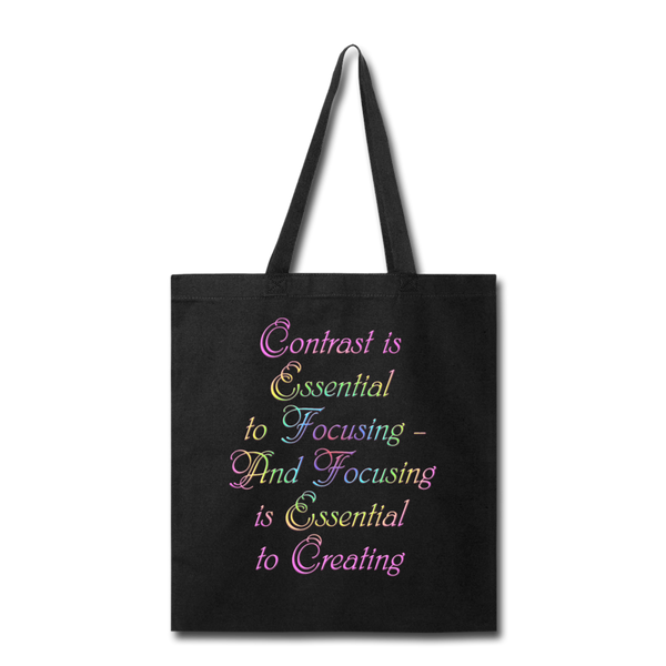 Contrast is Essential - Tote - black