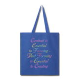 Contrast is Essential - Tote - royal blue