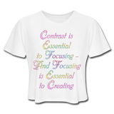 Contrast is Essential - Cropped Women's - white