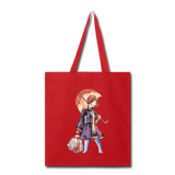 Lady Walking in Rain - Tote - red