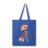 Lady Walking in Rain - Tote - royal blue