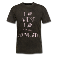 I Am Where I Am - Unisex - mineral black