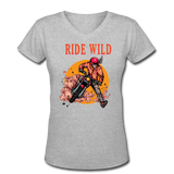 Ride Wild - V-Neck Women's2 - gray