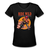 Ride Wild - V-Neck Women's2 - black