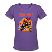 Ride Wild - V-Neck Women's2 - purple