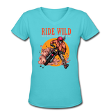 Ride Wild - V-Neck Women's2 - aqua