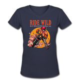 Ride Wild - V-Neck Women's2 - navy