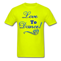 Love to Dance! Blue Gel - Unisex - safety green