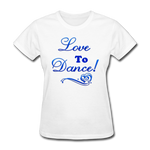 Love to Dance! Blue Gel Swirl - Women's - white