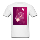 Pink Dove Collage - Unisex - white