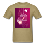 Pink Dove Collage - Unisex - khaki