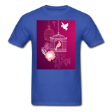 Pink Dove Collage - Unisex - royal blue