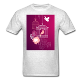 Pink Dove Collage - Unisex - light heather gray