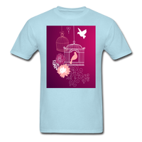 Pink Dove Collage - Unisex - powder blue