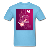 Pink Dove Collage - Unisex - aquatic blue