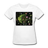 Green Butterfly Collage - Women's - white