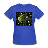 Green Butterfly Collage - Women's - royal blue