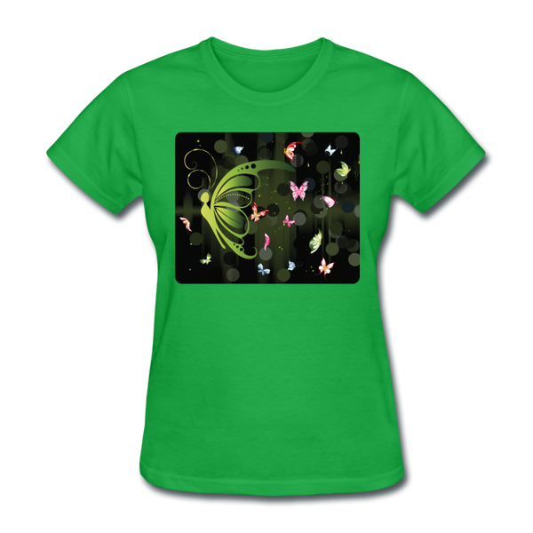 Green Butterfly Collage - Women's - bright green