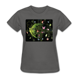 Green Butterfly Collage - Women's - charcoal