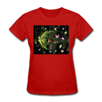 Green Butterfly Collage - Women's - red