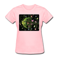Green Butterfly Collage - Women's - pink