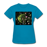 Green Butterfly Collage - Women's - turquoise