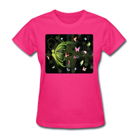 Green Butterfly Collage - Women's - fuchsia