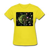Green Butterfly Collage - Women's - yellow