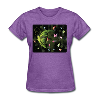 Green Butterfly Collage - Women's - purple heather