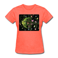 Green Butterfly Collage - Women's - heather coral